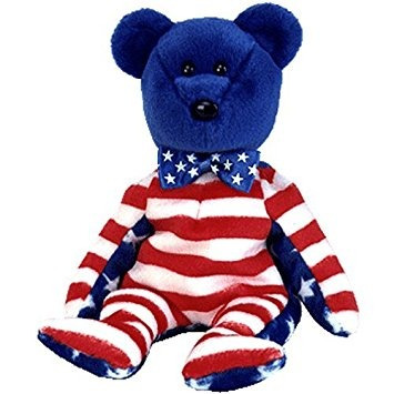 juguete ty beanie babies libertad - azul del oso (ee.uu. ex