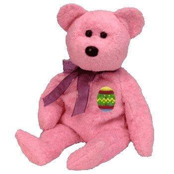 juguete ty beanie babies los huevos del oso (versión rosada