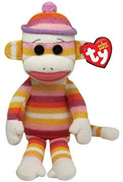 juguete ty beanie babies mono del calcetín de rayas en colo