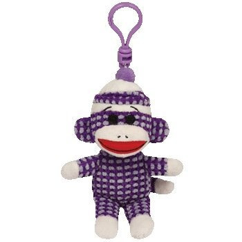 juguete ty beanie babies mono del calcetín - púrpura acolch