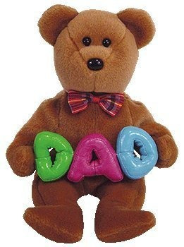 juguete ty beanie babies - papá del oso (ty exclusivo de ti
