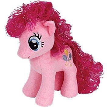juguete ty beanie babies - pinkie pie con el pelo del brill