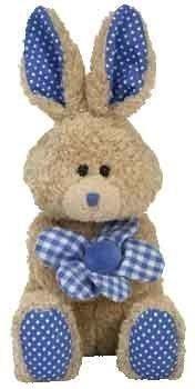 juguete ty beanie babies ramillete - bunny (oro del sello e