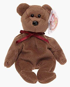 juguete ty beanie babies - teddy nueva cara del oso
