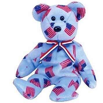 juguete ty beanie babies unión - bear (nariz negro)