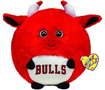 juguete ty beanie ballz chicago bulls - nba ballz - grande