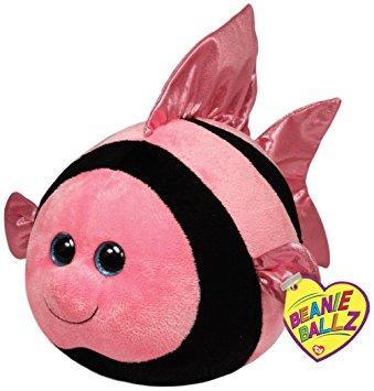 juguete ty beanie ballz gilly angelfish felpa, grande