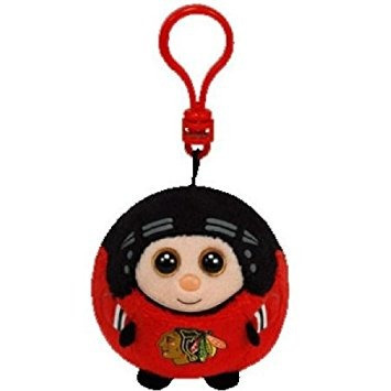 juguete ty beanie ballz nhl chicago blackhawks - clip