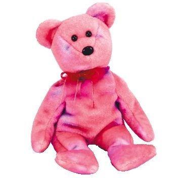 juguete ty beanie bebé - 5 de club del rosa del oso