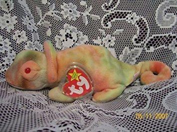 juguete ty beanie bebé - arco iris el camaleón w48
