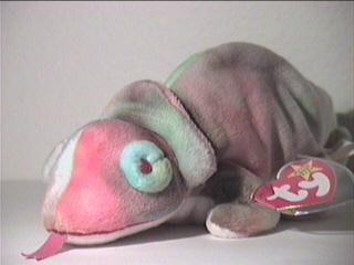 juguete ty beanie bebé - arco iris el camaleón w58