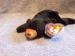 juguete ty beanie bebé - blackie el oso negro - menta con l