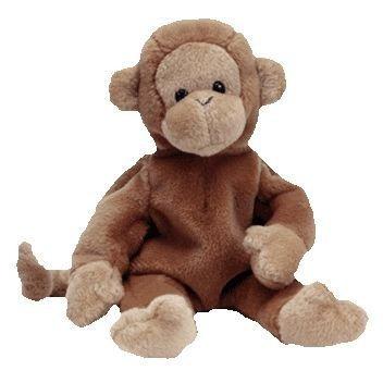 juguete ty beanie bebé - bongo el mono (brown oscuro de la