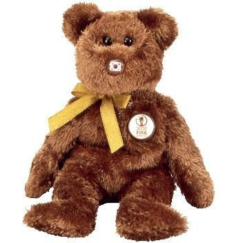 juguete ty beanie bebé - campeón del oso de la fifa (repúbl