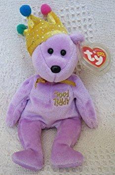 juguete ty beanie bebé - jokester el oso (internet exclusiv