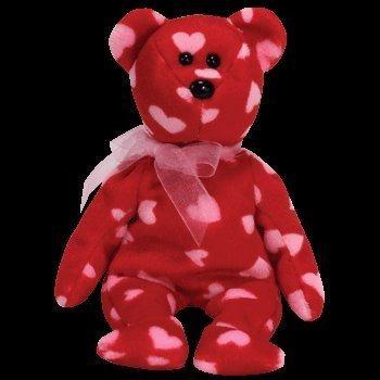 juguete ty beanie bebé - kiss pequeña el oso (oro del sello