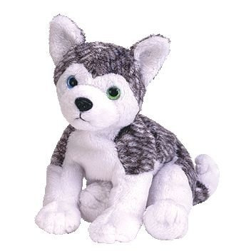 juguete ty beanie bebé - mukluk el perro husky (azul