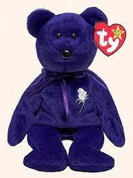juguete ty beanie bebé original 'princesa' oso púrpuras con