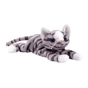 juguete ty beanie bebé - prance el gris del gato w31