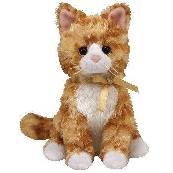 juguete ty beanie bebé - romeo el gato anaranjado