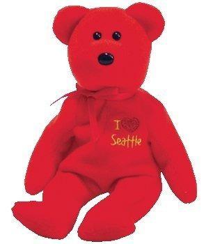 juguete ty beanie bebé - seattle el oso (me encanta seattle