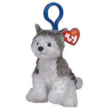 juguete ty beanie bebé - slush el perro husky (plástico - t