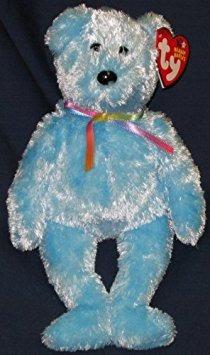 juguete ty beanie bebé - sorbete del oso (versión azul)