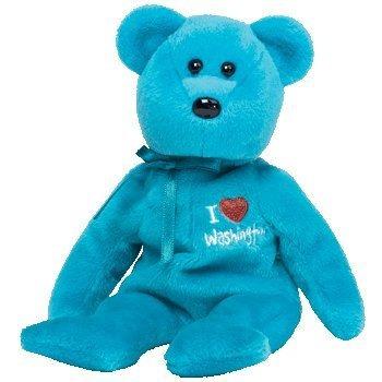 juguete ty beanie bebé - washington el oso (amo washington