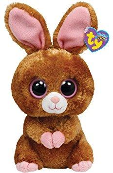 juguete ty beanie boos hopson conejito de brown 13