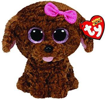 juguete ty beanie boos maddie el perro de brown con el arco