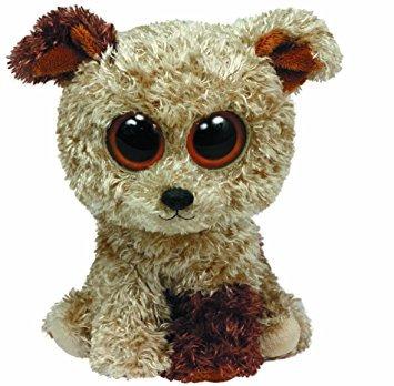 juguete ty beanie boos rootbeer terrier felpa, medio