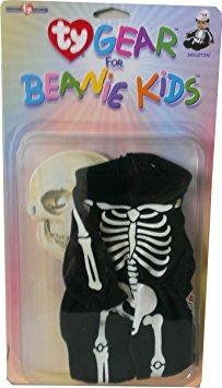juguete ty beanie engranaje para niños esqueleto de trajes