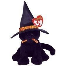 juguete ty beanie halloweenie bebé - merlin el gato