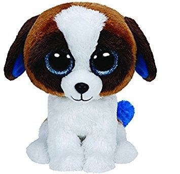 juguete ty beanies duque de brown perro blanco - medio