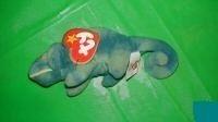 juguete ty mcdonald's teenie beanie - #6 iggy the iguana (1