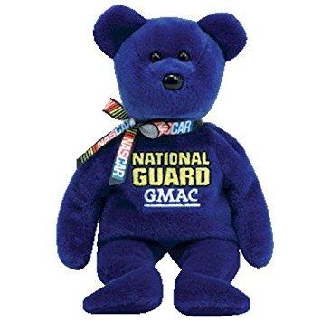 juguete ty nascar beanie baby bear casey mears #25