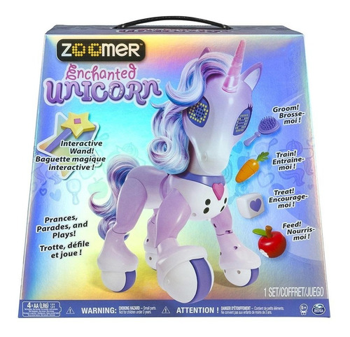 juguete unicornio interactivo edades 5 años en adelante