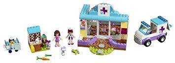juguete vet clinic 173pcs lego juniors de mia