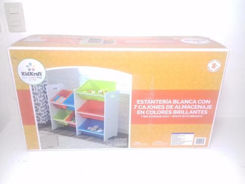 juguetero organizador kidkraft 7 cajoneras 83.5x30x74.5 cm