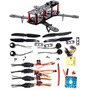 4-axis 250 De Fibra De Carbono Fpv Quadcopter Kit Combo Cc3d