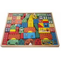 Juego Didáctico Castillo, Números, Cubos,figuras/(56 Piezas)