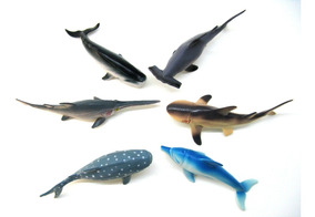Pack Animales Mar Juguetes X6 Goma Marinos Y 03 Tiburon sQthdr