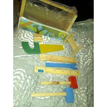Set De Mis Primeras Herramientas De Madera Para Niños