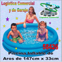 Piscina Inflable 3 Aros Azul Para Niños Intex 147 Cm X 33 Cm