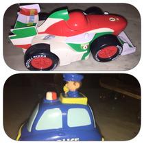 Carrito De Policia Que Avanza Y Carro Disney Cars