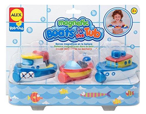 juguetes de baño,alex toys frotar un dub barcos magnétic..