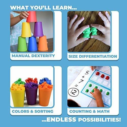 juguetes de clasificación de colores para niños pequeños con