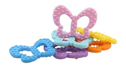 juguetes de dentición de mariposa bpa free fda approved pur