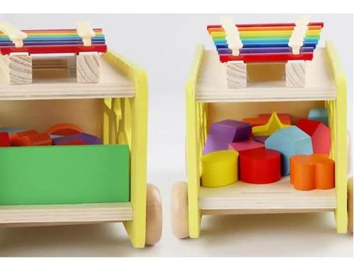 juguetes de madera niños didáctico multifuncional xilófono