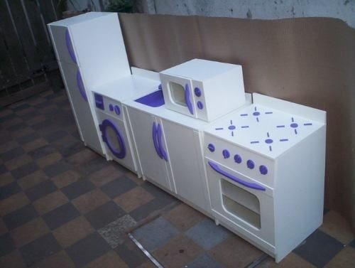 Juguetes de madera para ni os cocina nevera lavadora - Cocinas de madera ninos ...